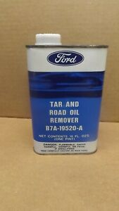 Vtg Ford Tar Road Oil Remover Can B7a 19520 A