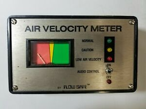 Used Air Velocity Meter By Flow Safe Normal Caution Low Audio Control