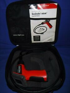 Ridgid Seesnake Micro Hand Held Inspection Camera W Soft Case