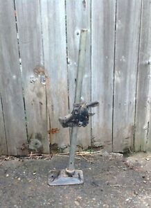 Vintage Auto Black Bumper Jack With Base