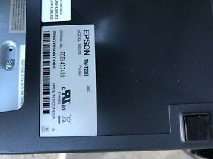 Epson Tm t20ii Receipt Pos Printer With Power Cord Usb Or Serial Cable