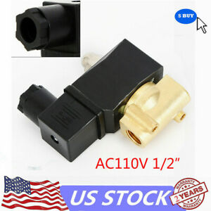 1 2 npt Electric Solenoid Valve Brass Electromagnetic Valve Normally Closed 110v