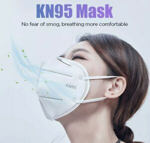 50x White Kn95 Protective 5 Layers Face Mask Bfe 95 Pm2 5 Disposable Respirator