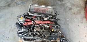 Jdm 2004 2005 Subaru Wrx Sti Version 8 Engine 2 0l Ej207 Turbo Motor Intercooler