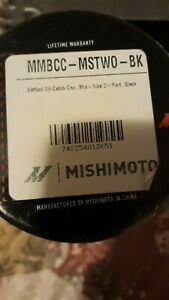 Mishimoto Oil Catch Can Mid Size 2 Port Black