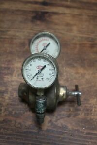 Vintage Airco Regulator Oxygen Stacked 841 Series Tested Brass Body Solid