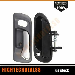 For 1998 2002 Honda Accord 1 Inside 1 Outside Front Driver Left Door Handles