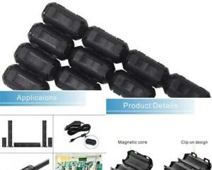 10 pack 5mm Ring Core Ferrite Bead Choke Coil Clamp Rfi Cable Clip Noise Filter