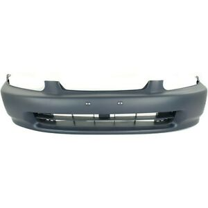 Primed Front Bumper Cover For 1996 1998 Honda Civic Coupe Hatchback