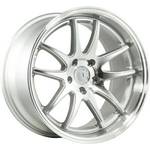 4 Staggered 18x9 5 18x10 5 Aodhan Ds02 Silver 5x4 5 15 22 Wheels Rims