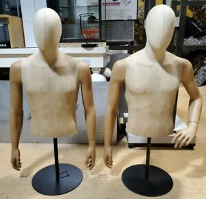 Fabric Male Torso Adjustable Height Mannequin Arm Styles Vary local Pickup Only