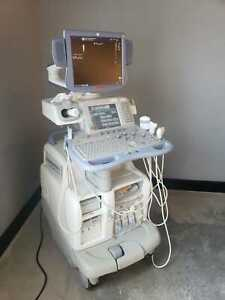 Ge Logiq 9 Ultrasound System With Flat Panel Monitor fully Refurbished