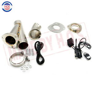 2 5 63mm Electric Exhaust Valve System Dump Muffler Controller Wireless Remote