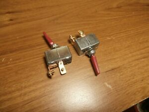 Lot 2 Philmore 50 Amp 30 12242 12 Volt Dc High Current Toggle Switch Red Handle