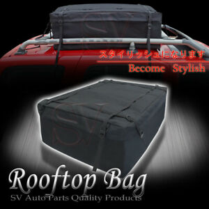 Fit Jeep All Weather Roof Top Rack Cargo Bag 15cu Ft Luggage Carrier Storage Box