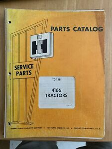 Vintage Ih4166 Tractor Parts Manual Classic International Harvester Case