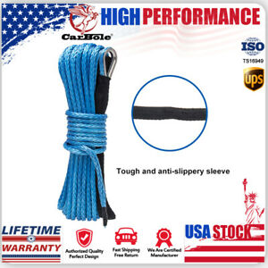 1 4 X 50 Synthetic Winch Rope Line Cable Recovery Atv Utv Suv Pickup 10000lbs