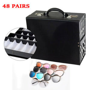 8 Layer 48 Pair Foldable Multicase Sunglass Eyeglasses Suitcase Display Case Us