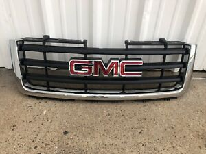 2007 2012 Gmc Sierra 1500 Front Chrome Grille With Emblem Oem 22761792