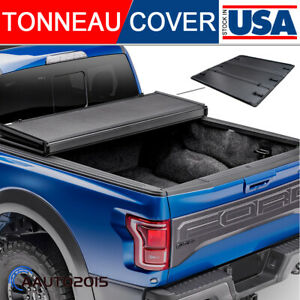 Fit 1999 2019 Ford F 250 350 450 Superduty 6 5ft Bed Hard Tri fold Tonneau Cover
