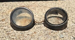 Vintage Metal Steampunk Industrial Welding Goggles Screw Out Lens h223