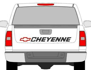 Chevrolet Bed Decal Chevy Cheyenne Tailgate Sticker Window Vinyl Graphics 50 x4