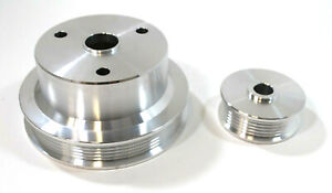 Sb Chevy Camaro 4 3 V8 5 0 5 7 Billet Serpentine Pulley Kit 6 rib