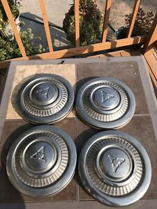 Set Of 4 Vintage Chrysler Dodge Dogdish Center Hubcaps