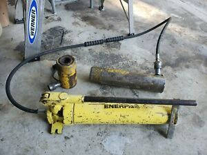 3 Enerpac Porta Power Hydraulic Pump P80 Double Acting Rc252 Other