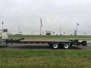 2001 Interstate 20 Ton Pintle Hitch Trailer New Paint And Deck Nice
