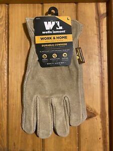 Wells Lamont Work Home Heavy Durable Cowhide Gloves Large Nwt