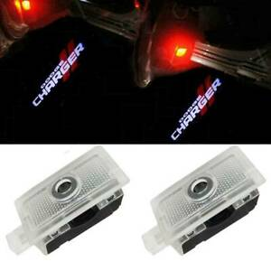 2x Led Door Courtesy Projector Puddle Logo Lights For 2006 2019 Dodge Charger