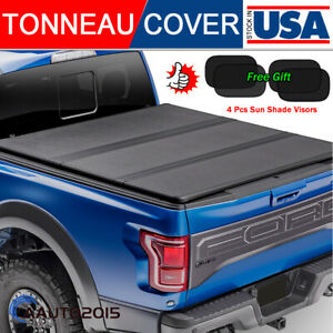 Fits 2019 2021 Chevy Silverado 1500 Solid Hard Tri fold Tonneau Cover 5 8ft Bed