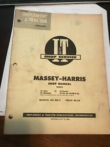 Mh 5 I t Shop Manual Massey Harris 21 Colt 23 Mustang 33 44 Special 55 And 555