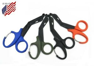Bandage Shears W Quick Release Hanging Clip Paramedic Trauma First Aid Scissors
