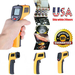 Thermometer Non contact Lcd ir Laser Infrared Digital Temperature Gun Pyrometers
