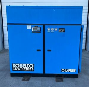 Kobelco Knw Series Ao a l 40 Hp Two stage Oil Free Rotary Screw Air Compressor