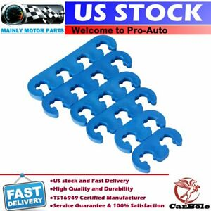 9877 Blue Plastic Spark Plug Wire Separators Dividers Looms For Chevy Ford Sbc