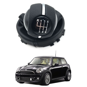 6 Speed Gear Shift Knob Head With Gaiter Boot Mt Lever For Mini Cooper 7641999