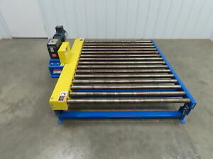 Lewco Powered Live Roller Case Pallet Skid Conveyor 60 x 48 460v 3ph 31 Fpm