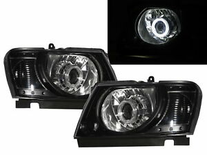 Patrol Safari Y61 04 on 5d Guide Led Halo Projector Headlight Bk For Nissan Lhd