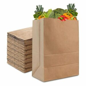 Stock Your Home 57 Lb Kraft Brown Paper Bags 50 Count paper Grocery Bags