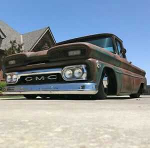 1960 1961 Gmc Custom Deluxe Trim Truck Long Bed Moldings C10