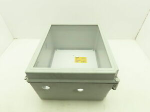 Hoffman A14128chqrfgw Elect Plastic Enclosure Junction Box 14 x12 6 W backplate