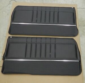 1965 Impala Non Ss Coupe Pre assembled Pui Front Door Panels Black In Stock