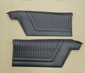 1965 Impala Ss Coupe Pre assembled Pui Rear Door Panels Black In Stock