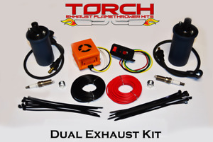 Torch Dual Exhaust Flame Thrower Kit American Muscle Hotrod Jdm Universal