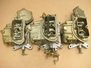67 Corvette 427 3659 3660 Tri Power Holley Carburetors 427 435 400 Dated 3x2 Set