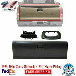 Tailgate Primed Handle W Bezel Textured For 99 06 Silverado Sierra Pickup