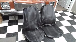 70 Chevelle El Camino Black Front Bucket Seat Covers W S Medallions 70as10u